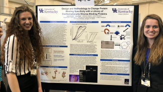 NCUR Lydia Fletcher Kara Tauer neuroscience poster research presentation